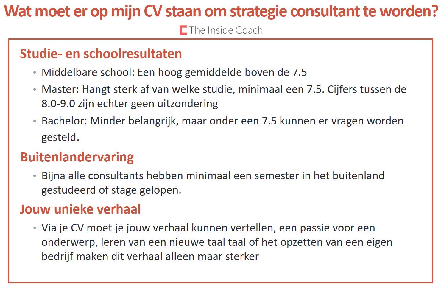 wat op cv CV – The Inside Coach