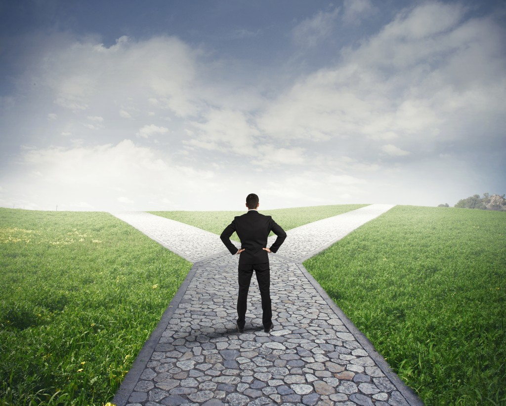 crossroads career path for a young professional